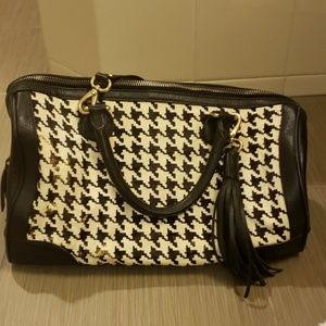 Banana Republic herringbone printed leather bag